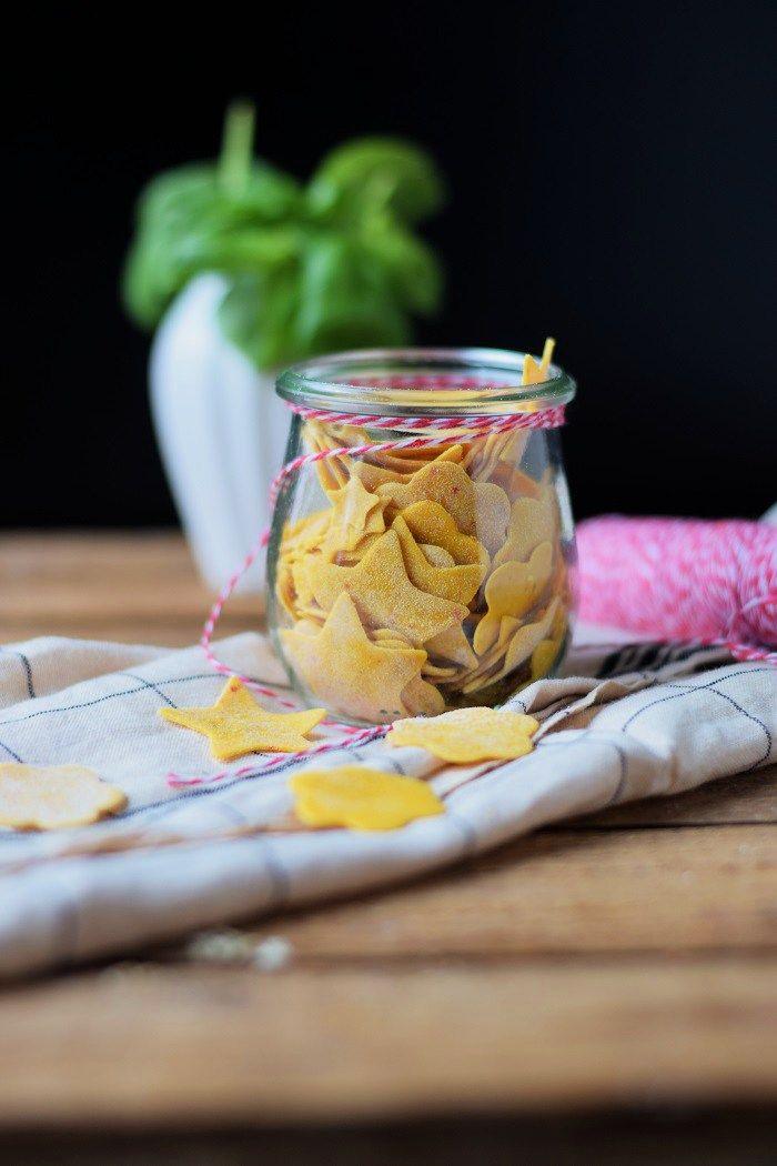 Kuerbis Pasta mit Hackbaellchen und Mozzarella - Homemade Pumpkin Pasta with cheesy meatballs | Das Knusperstübchen