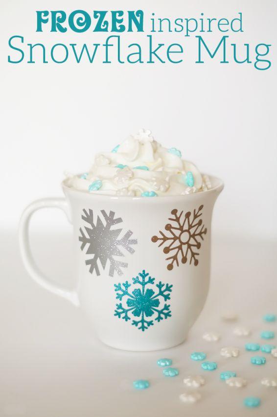 Frozen Inspired Snowflake Mug // Taza con copos de nieve estilo Frozen