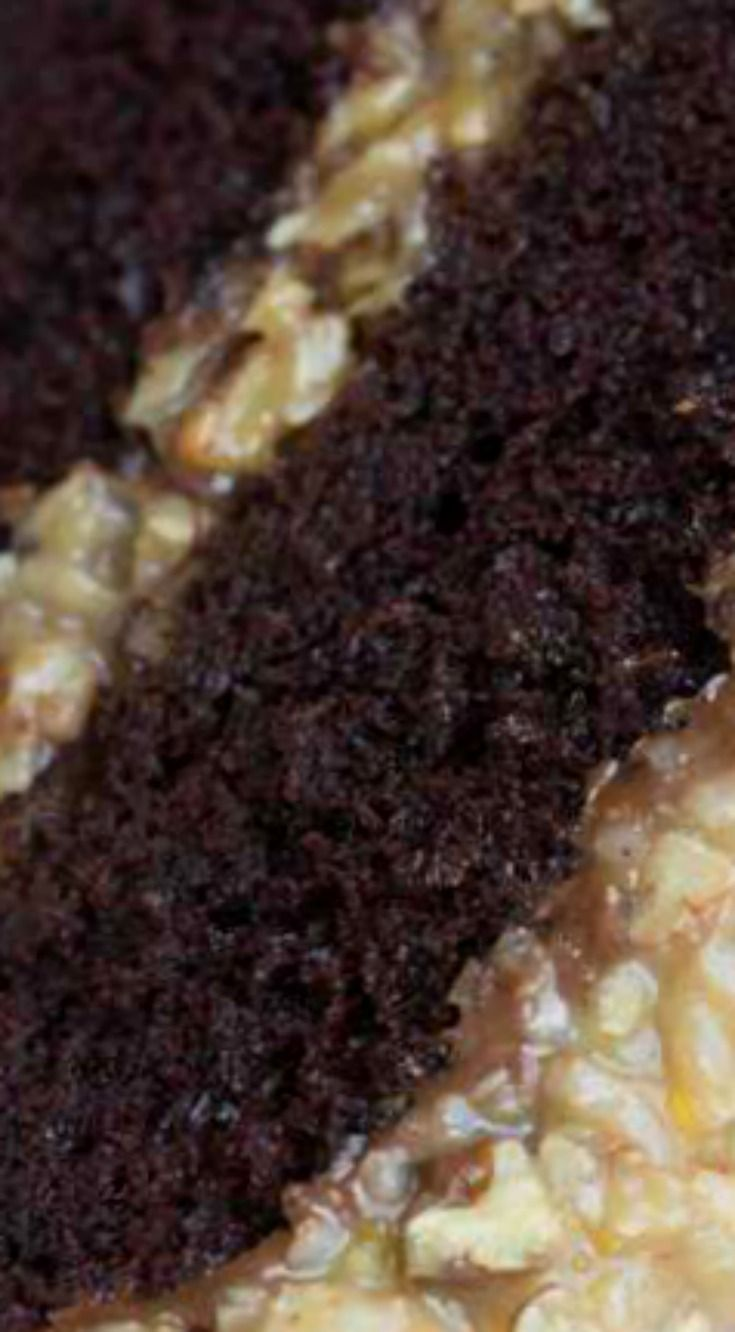 The BEST Homemade German Chocolate Cake ~ This cake is incredible... With layers of coconut pecan frosting and chocolate frosting.