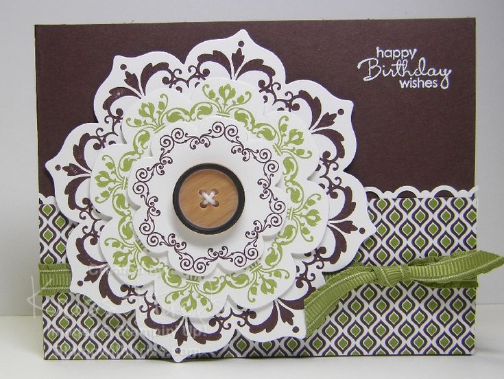 Daydream Medallions stamp set coordinates with the Floral Frames Framelits - StampWithKriss.com