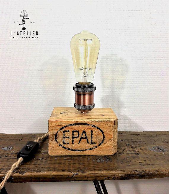 lampe bois_naturel_recycle_wood par atelierdeluminaires sur etsy