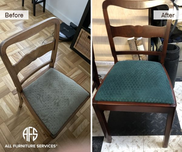 Dining Chair Seat Replace Reupholster Refinish Restore Lose Frame