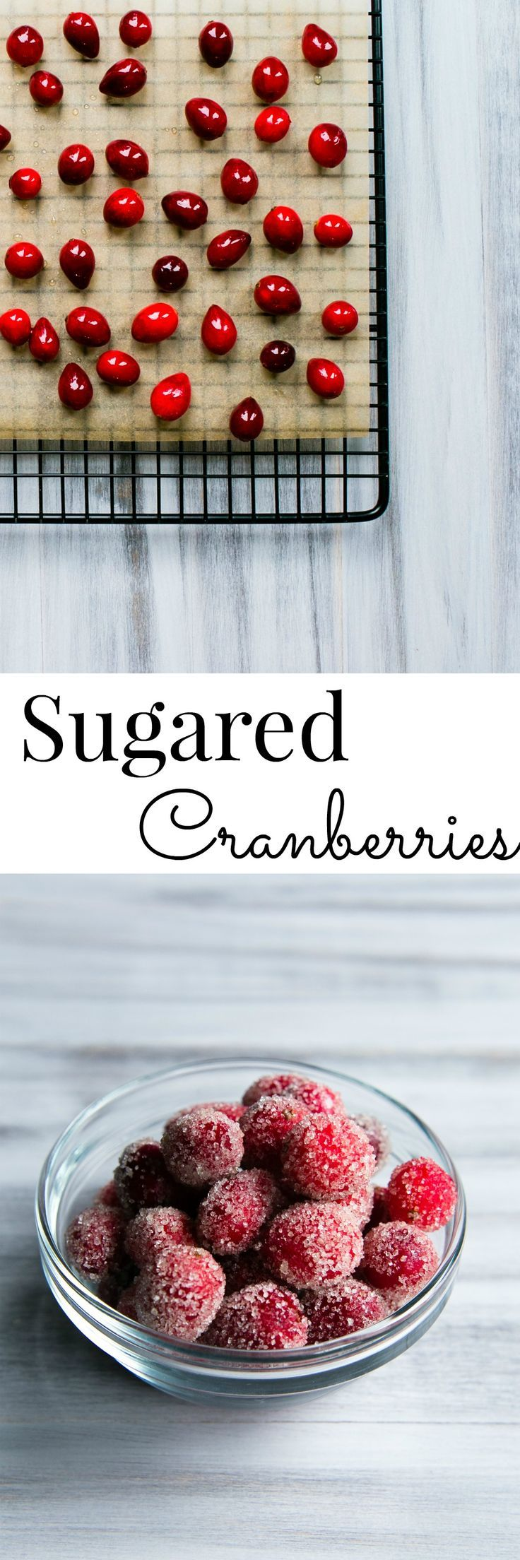 So pretty for the holidays! Sugared Cranberries! Easy and so delicious; use as a garnish or a snack | #Holiday #SugaredCranberries #Candy #Recipe
