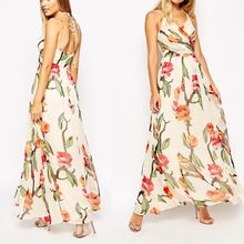Latest fashion style floral print halter maxi chiffon dress Best Seller follow this link http://shopingayo.space