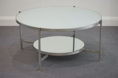 A10:495073-S Luxe Transitional Coffee Table in Silver Leaf