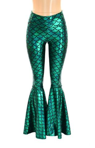 Green Mermaid Bell Bottoms