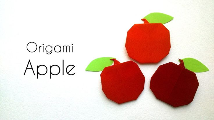How to make Easy Origami Apple- Simple Origami Tutorials for Kids