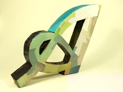 Paper Mache, 3D typography by Darren BoothBad Ass, Darren Booths, Air Cafes, Paper Mache, Paper Maché, Sooooo Bad, Finest Typography, Good Air