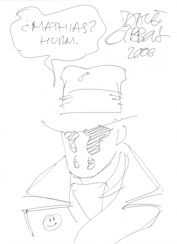 MIS DIBUJOS DE DIBUJANTES DE COMIC: Rorschach de Dave Gibbons