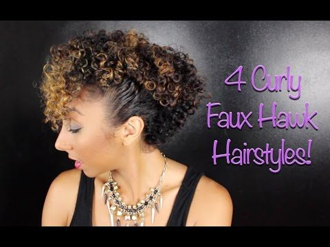 4 Curly Faux Hawk Hairstyles! | BiancaReneeToday - YouTube natural Curly Hair Styles