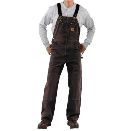 Carhartt Bib Overalls - Sandstone Duck, Unlined (For Men))