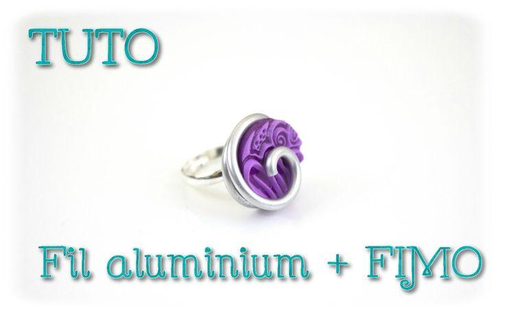 { Tuto } Bijoux fil aluminium et FIMO
