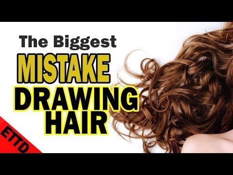 Biggest Mistake When Drawing Hair - Easy Things to Draw