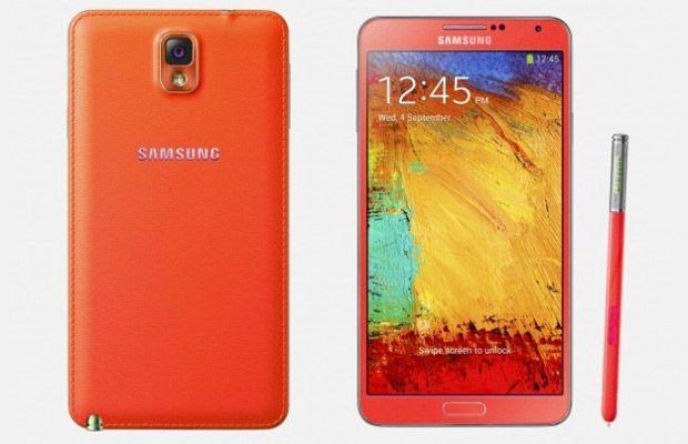 Samsung Galaxy Note 3. Διαθέσιμο σε κόκκινο και white gold