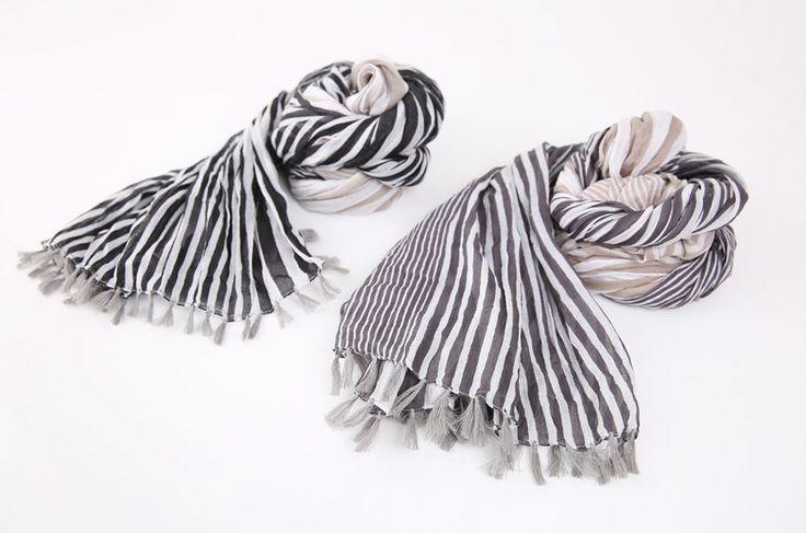 StyleOnme_No. 35601 #scarf #striped #muffler