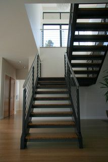 Steel staircase - Modern - Staircase - seattle - by ALCOVA architecture