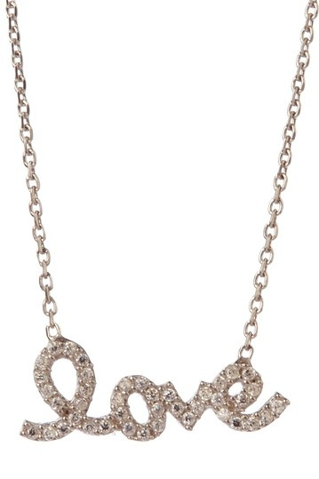 "CZ ""Love"" Script Charm Necklace"