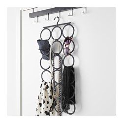 IKEA - KOMPLEMENT, Multi-use hanger, Keeps your shawls, belts, ties and other accessories organized.Uses as little room as a clothes hanger, but can store at least 18 different accessories.Can also be used in bathrooms and other damp indoor areas.