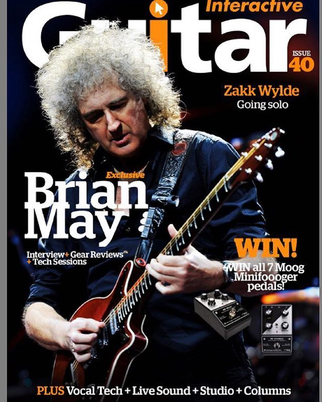 Reposting @james_rundle: Check out link in the description of latest YouTube video to view Interactive Guitar magazine #brianmay #guitar #instagood #instagram #music