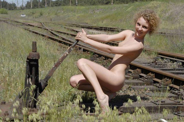 Naked Girls On Railroad Tracks  Girls  Rails  Railroad -4987
