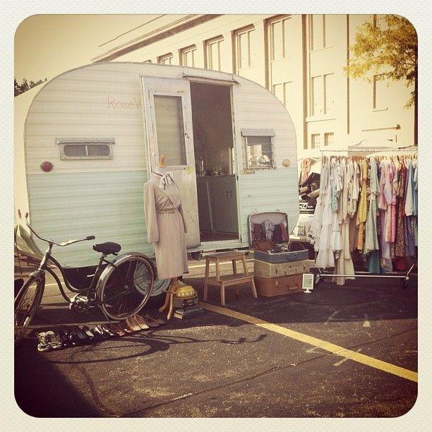 Vintage style caravan boot sale