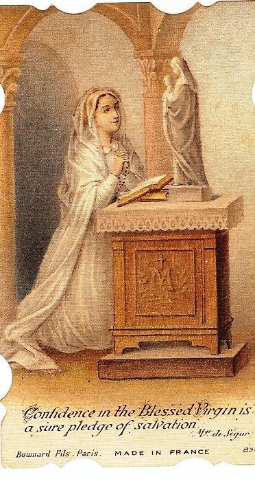Confidence in the Blessed Virgin is a sure pledge of salvation. Pope Leo XIII . Catholic quotes