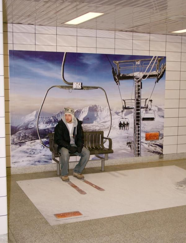 Alberta Tourism: CHAIRLIFT Outdoor Advert  by Venture Communications Toronto