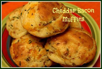 Sweet Tea and Cornbread: Cheddar Bacon Muffins!