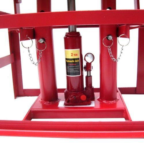 Lifting Car Ramp Jack 2t 2 Heights Hydraulic Adjustable Pair Car Maintenance Ram