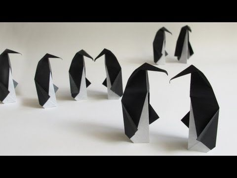 Origami Penguin :: Pingouin :: Pingüino :: Pinguin :: ペンギン - YouTube  Read more about this here: http://www.origamispirit.com/2013/07/origami-penguin-instructions/