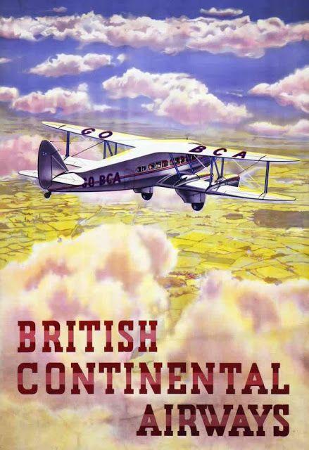 Vintage British Aviation Posters between 1920's-30's