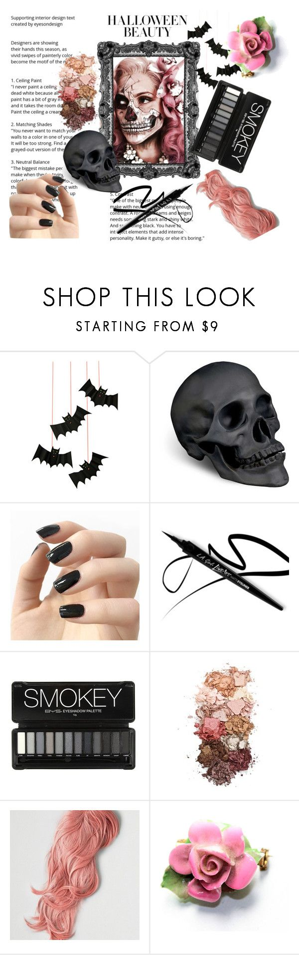 """Pink Skull"" by iris234 on Polyvore featuring beauty, Meri Meri, L'Objet, Incoco, Sigma and American Eagle Outfitters"