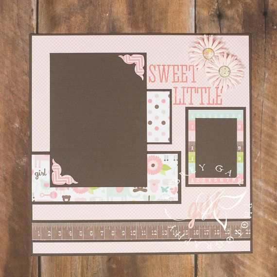 Sweet Little Girl PreMade 12x12 Scrapbook by PrettyPaperPixies, $9.00