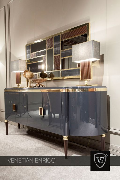 Luxury furntiure | glossy grey sideboard |www.bocadolobo.com #modernsideboard #sideboardideas