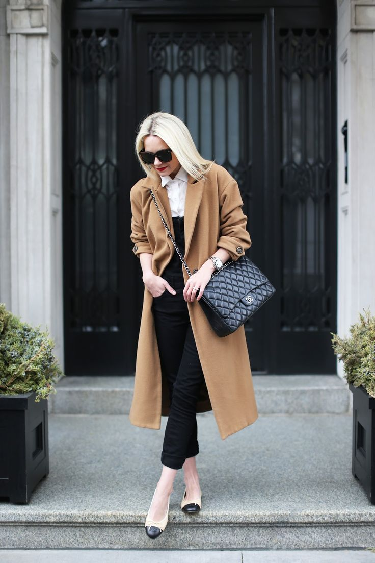 Overalls: Old, similar here– also love this flare version and these. Flats: Chanel (similar here). Top. Coat: Mason (similar here). Bag: Chanel. Sunglasses: Celine. Photos by Jeff Thibodeau