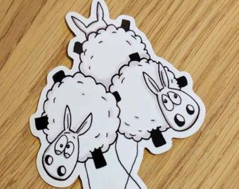 Grappige stickers, Baaa-loons!, Laptop stickers, ipad stickers, schapen stickers, schapen geschenken, dierlijke stickers, Journal stickers, leuke stickers
