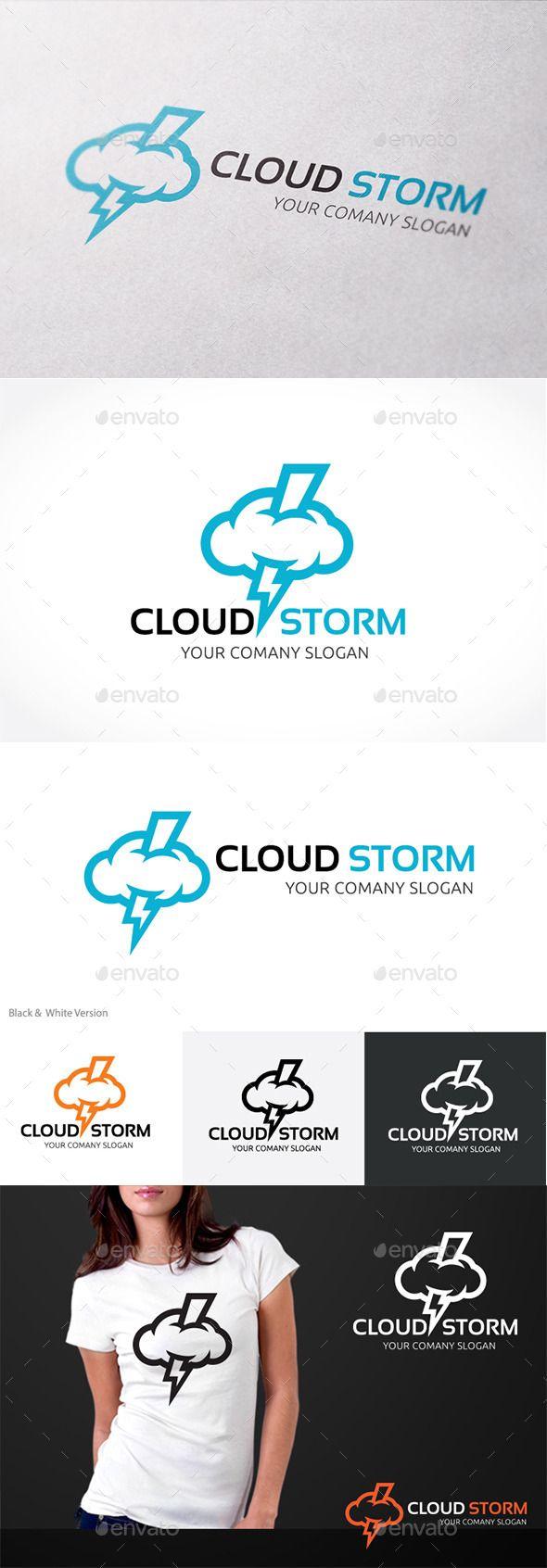 Cloud Storm - Logo Design Template Vector #logotype Download it here: http://graphicriver.net/item/cloud-storm/10658430?s_rank=1172?ref=nexion