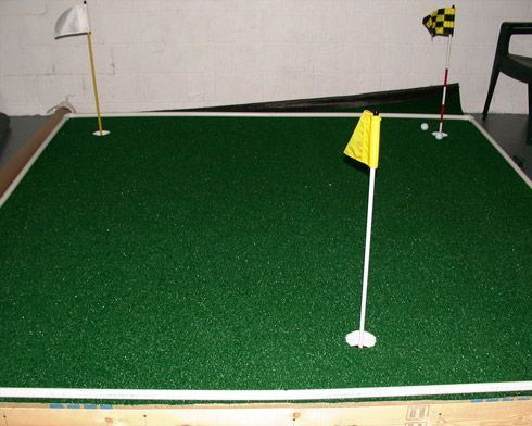 Indoor Putting Green...should be fun with a few cocktails