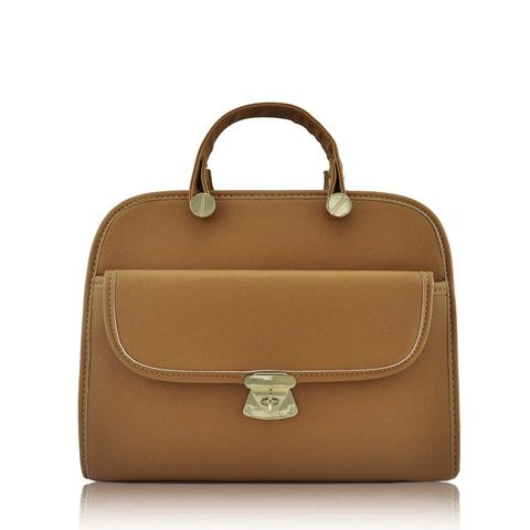 Tan Women's Satchel Bag with Long Strap - Satchels and Shoes