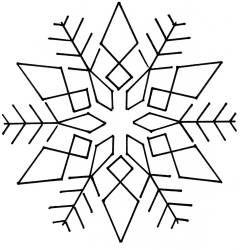 "Snowflake #4- 9"""