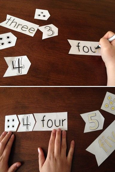 Number trace and match puzzle cards are a great twist on a classic matching game. Dots, numbers & number-words fit together like a three piece puzzle making for an easy matching process.