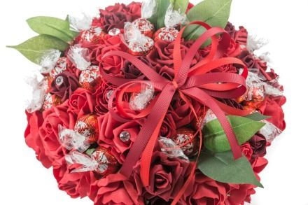 Hand made Chocolate flower Bouquets I chocolate gift creations I thechocolateflorist.co.uk - red rose flower pot