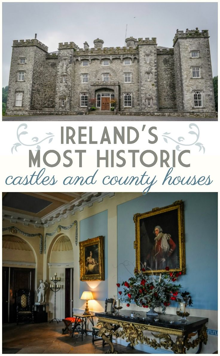 Ireland's most historic castles and country houses. Ireland is one of the most visited countries in Europe for its culture and heritage. Discover the treasures of Ireland's Ancient East – a region within the Republic of Ireland, outside of Dublin revel in 5,000 years of civilization, settlement and dramatic landmarks. The many evocative castles in Ireland together with its magnificent country houses and beautiful gardens remind us that Irish history is long and full of stories and character.