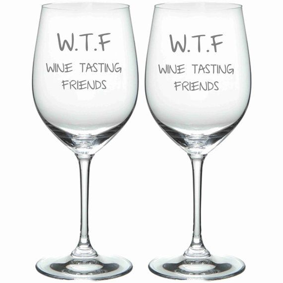 For you and your best WTF. | 21 Wine Glasses You Actually Need In Your Life