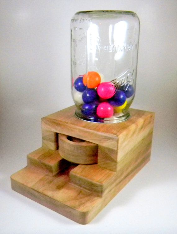 Gumball dispenser, wooden candy machine, handmade gifts, OOAK | Gumball, Candy and By