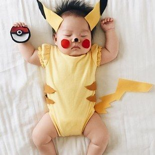 …and has even been swept up in the Pokémon craze. | This Mom Dresses Her Baby Up In The Most Amazing Costumes While She Naps