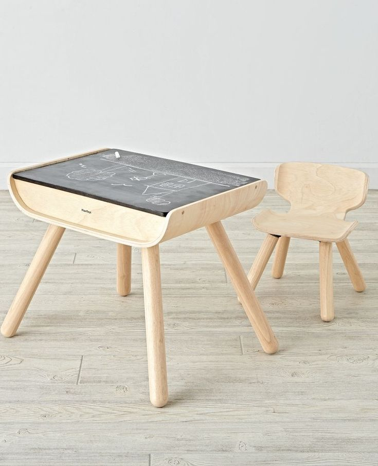 With a sleek bentwood design, our multifunctional toddler desk and chairs set is perfect for the active toddler. There are two storage compartments, sturdy support and a desktop that toddlers can draw on with chalk, as well.
