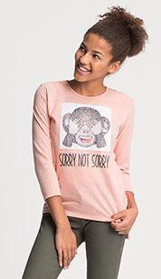 Sweatshirt in koraal