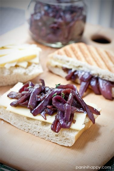 Grilled Gruyere with Red Onion Confit (via Panini Happy) #grilled ...