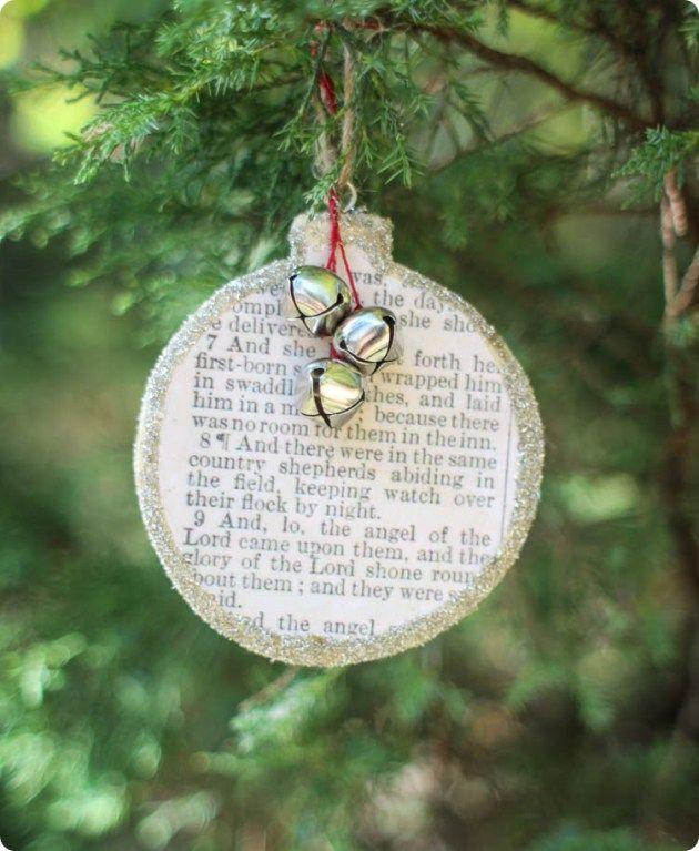 DIY Farmhouse Christmas Ornaments ***our favorite songs